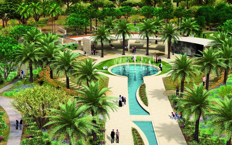 Abu dhabi s new mushrif central park watch this green for Home garden design dubai