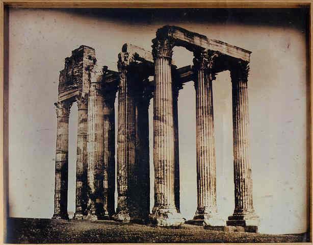 Joseph-Philibert Girault de Prangey (1804–1892) 113. ATHÈNES. 1842. T.[EMPLE] DE J.[UPITER] OLYMPIEN. PRIS DE L'EST.