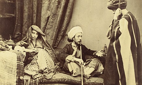 Roger Fenton (Heywood, 1819–London, 1869) Pasha and Bedouin 1858, Albumen print from a collodion glass plate negative © Louvre Abu Dhabi Agence photo F