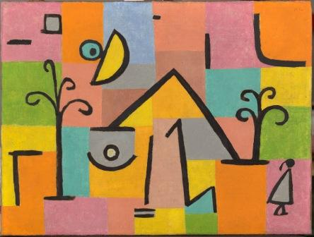 Paul Klee (Münchenbuchsee, 1880–Muralto, 1940) Oriental Bliss, Bern, Switzerland, 1938, Oil paint and tempera on paper glued to burlap © Louvre Abu Dhabi Agence photo F