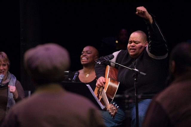 The singer, songwriter, multi-instrumentalist, composer and producer Toshi Reagon. Courtesy Kevin Yatarola