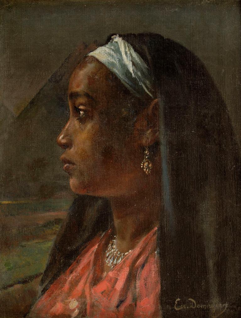 Ervand Demerdjian Nubian Girl (undated, oil on canvas 30 x 40 cm) Image courtesy of Safarkhan Art Gallery / Barjeel Art Foundation, Sharjah